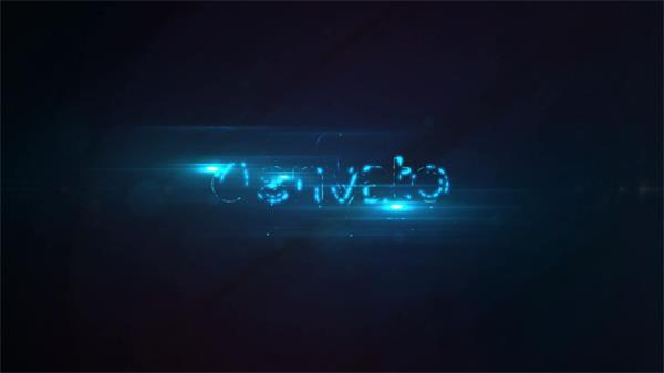 AE模板 迷人大氣閃爍光效淡出科技企業LOGO標志揭示模板 AE素材