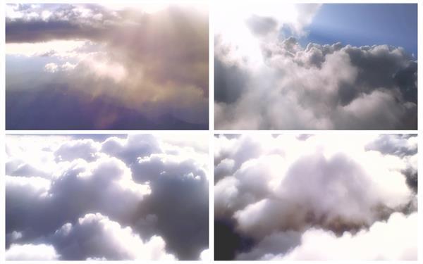 3款高空拍摄云层风景蓝天白云移动变幻阳光照射高清视频实拍