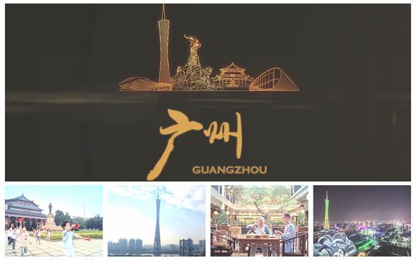 魅力广州羊城风貌博大精深文化早茶工艺婚礼城市建筑高清视频实拍