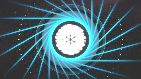 活力动感射线旋转灯光缩放粒子变幻派对活动舞台背景视频素材