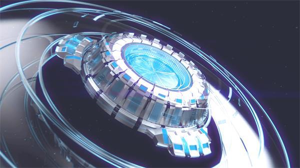 AE模板 炫酷科幻技术旋转变化公司企业LOGO标志模板 AE素材