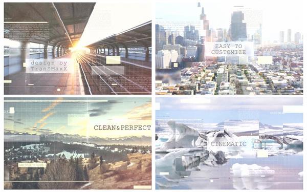 AE模板 现代化智能时尚演示图文过渡效果企业宣传幻灯片模版 AE素