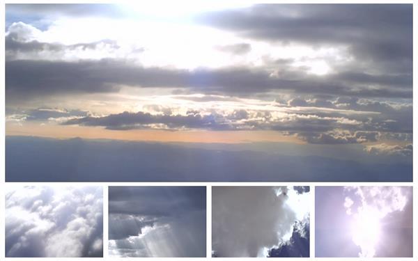 5款经典天空景色云层移动变换阳光穿透云层高清视频实拍