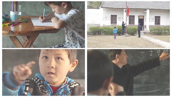 教师节宣传题材山区学生艰苦学习教育学习老师辛苦了高清视频实拍