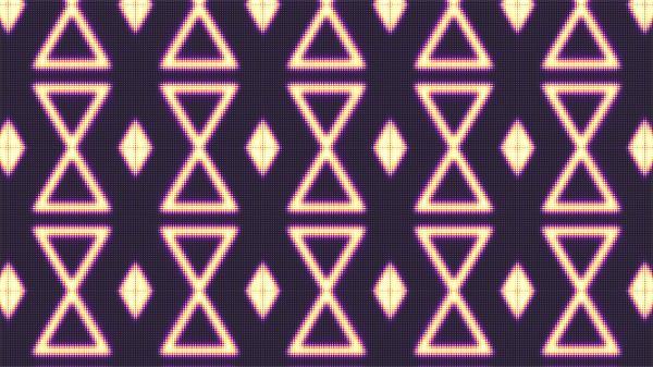 [4K]动感万花筒图案变幻条形错乱重合形状夜场活动背景视频素材