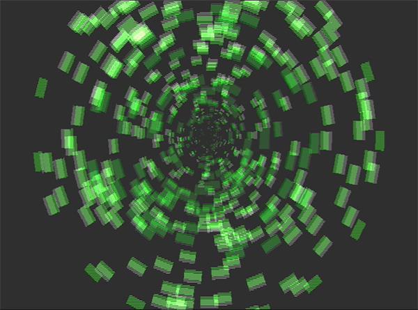 科技数据传输像素化动感方块弹出视觉效果LED背景视频素材