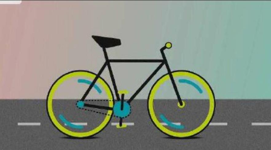 【AE教程】MG动画制作  简单趣味的MG自行车动效(1)