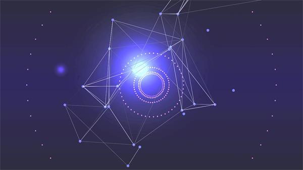 唯美光晕几何线性运动变幻科幻视觉效果舞台LED背景视频素材