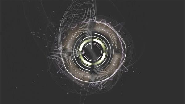 动感炫酷烟雾纹理逆时针旋转变化镜头视觉效果LED背景视频素材