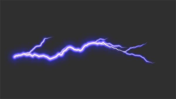 会声会影视频素材 动感节奏变幻雷电跳动闪烁电流交错闪电素材