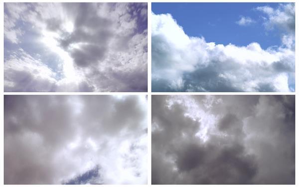 5款千變萬幻天空光效穿透云層烏云高空景色高清視頻延時實拍