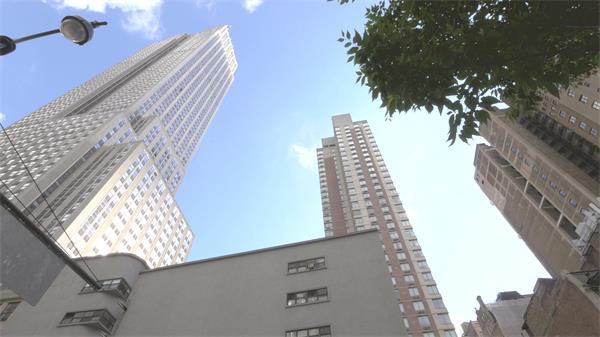 高楼大厦仰望天空镜头旋转移动拍摄城市建筑高清视频拍摄