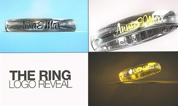 AE模板 豪华大气戒指旋转淡出雕刻文字唯美爱情婚礼模板 AE素材