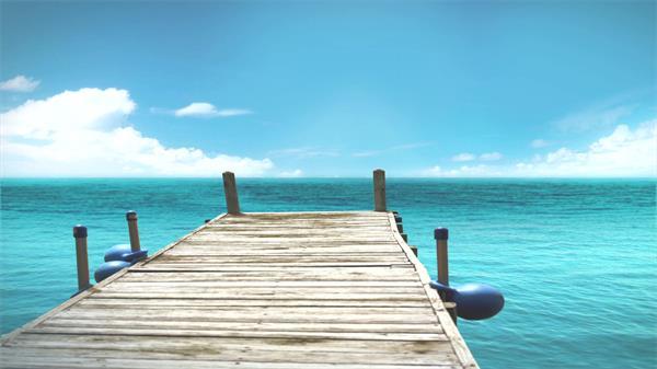 唯美湖岸蓝天?#33258;?#30721;头木桥房地产形象宣传高清视频实拍