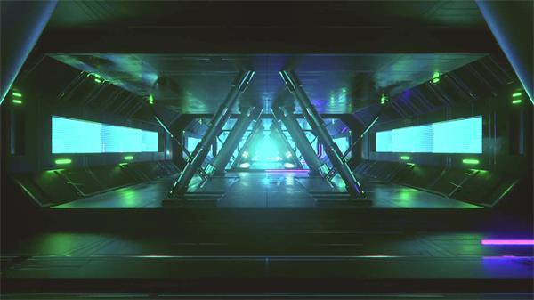 炫酷震撼科幻光效场景穿梭视觉机械动感大屏幕背景视频素材