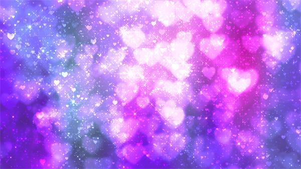 壮丽灿烂星空浪漫场景闪闪星光爱心飘浮典雅婚礼配景视频素材