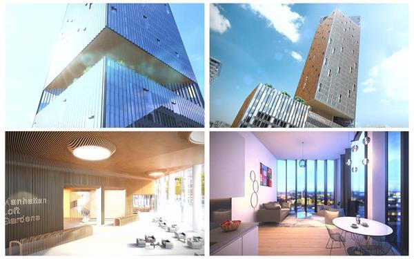 逼真三维构建商业大楼房地产形象宣传室内布局高清视频动画