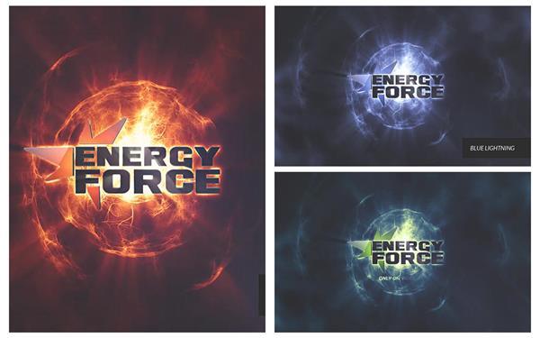 AE模板 炫酷魔幻科技能源变化视觉冲击演变企业LOGO标志模板 AE素
