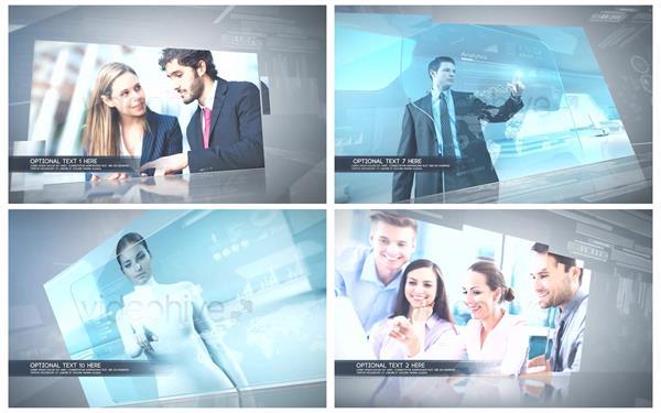 AE模板 商务智能科技化切换演示企业引见宣传幻灯片模板 AE素材
