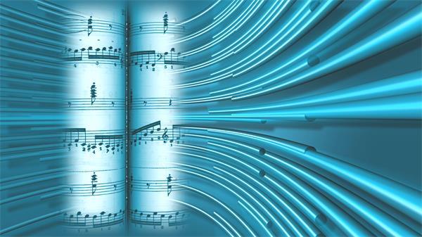 科幻條形旋轉運動樂譜播放音樂會場景舞臺LED背景視頻素材