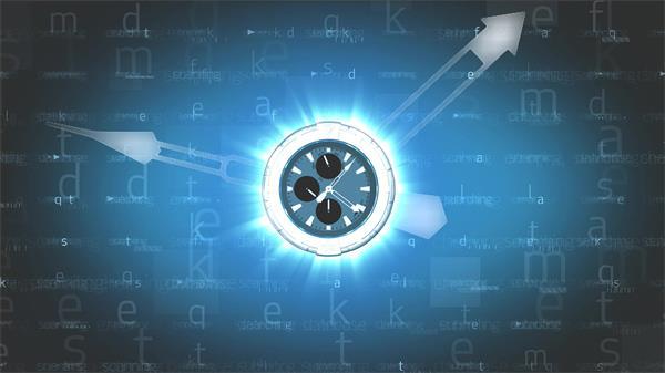 炫光科技配景字母变革指针活动腕表面活动宣传配景视频素材