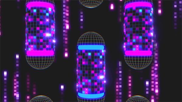 华丽大气灯光小方块变幻闪烁酒吧派对视觉冲击舞台背景视频素材