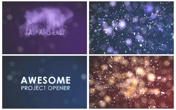 AE模板 精致酷炫烟雾汇聚企业LOGO爆炸演变粒子散开模板 AE素材