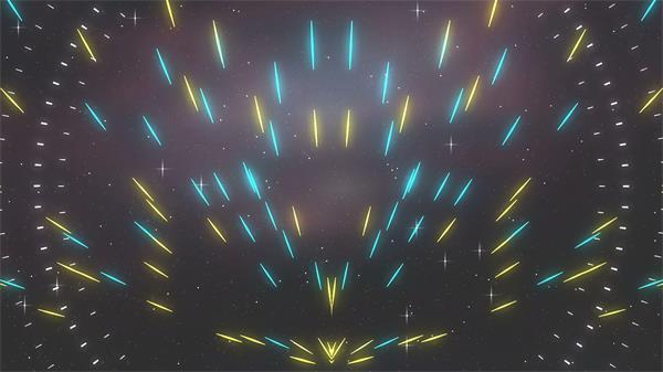 动感光线散发运动流体线性派对舞台LED背景视频素材