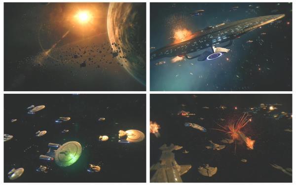 超震撼宇宙太空星球大战飞船战斗动画电影场景背景视频素材