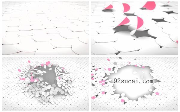 会声会影X6模板 唯美浪漫花瓣飞舞效果翻开演绎标题LOGO模板