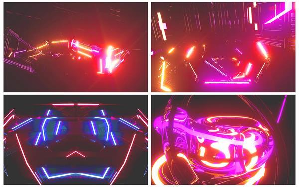 酷炫3D炫彩动感流体变幻场景视觉冲击派对活动舞台LED背景视频素