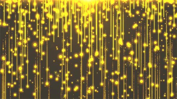光效金色粒子流体瀑布华丽高端婚礼舞台LED动态背景视频素材
