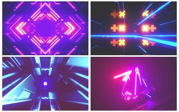 超炫三维空间科技时尚节奏光效运动视觉冲击派对屏幕背景视频素材