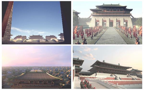 大气澎湃壮观皇宫内景古典故宫修建人文习俗高清视频实拍