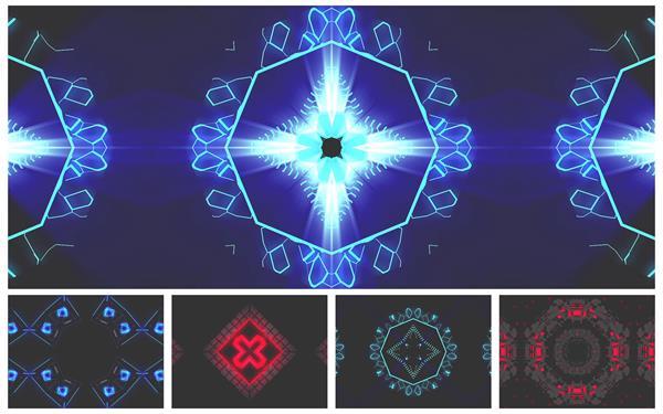 炫酷动感万花筒效果变幻光效视觉冲击完美展现LED舞台视频素材