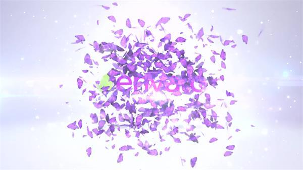 AE模板 震撼绚丽3D场景方块爆裂散开碎片渲染LOGO展示模板 AE素材
