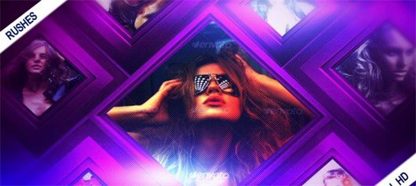 AE模板 炫光彩丽方块光效外形遮罩切换场景图文展现模板 AE素材