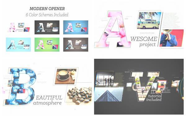AE模板 现代化英文演绎公司企业标题转场过渡片头揭示模板 AE素材