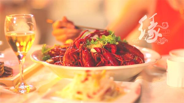 小龙虾生产地风土风貌文化底蕴美食小龙虾烹饪高清视频实拍