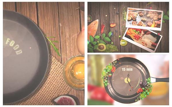 AE模板 烹调美食弹出食材切换过渡电视专题栏目包装模板 AE素材
