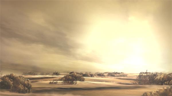 复古气息虚幻构建场景荒野戈壁沙漠视觉移动舞台背景视频素材