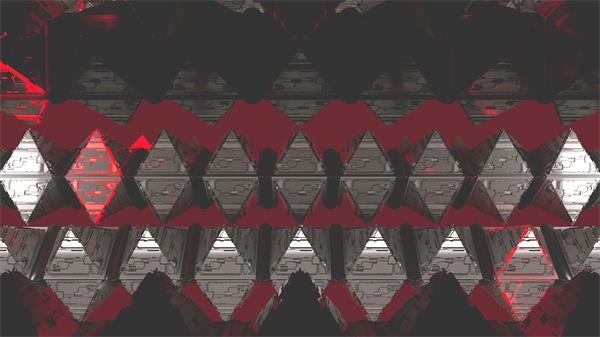 抽象画面金字塔形状旋转运动闪烁变幻视觉效果背景视频素材