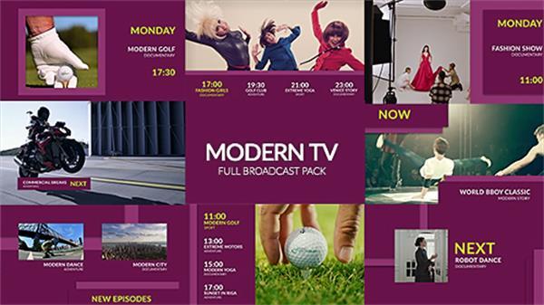 AE模板 时尚高雅字幕标题动感转场电视广播栏目包装模板 AE素材