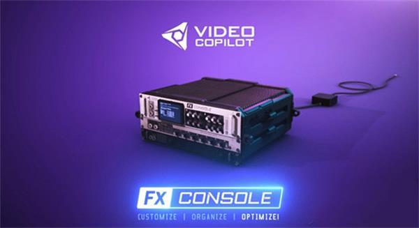 AE插件:AK新出品AE插件:特效管理控制工具VideoCopilot-FXConso