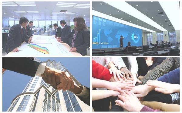 商务办公镜头会议讨论团队合作成功场景画面高清视频实拍