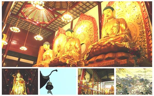 尊严神圣庙寺典雅建筑特色佛像耸立地理文化宣传高清视频拍摄