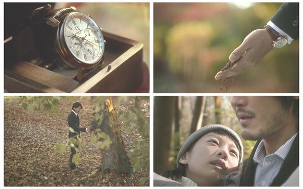手表广告恋人故事树林奔跑求婚时间树过程手表高清视频拍摄
