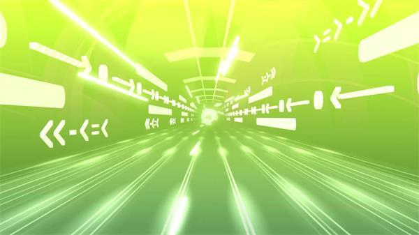 科技符号隧道穿梭光效动态变幻视觉冲击舞台背景视频素材