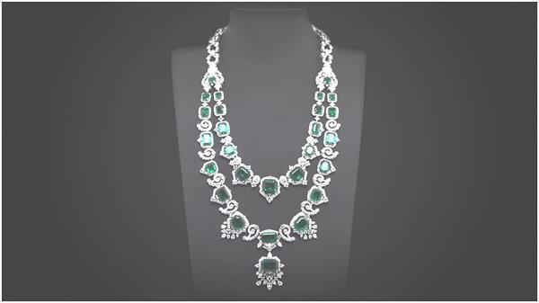 精致典雅手工制作顶级珠宝项链全人工打造珠宝宣传高清视频拍摄