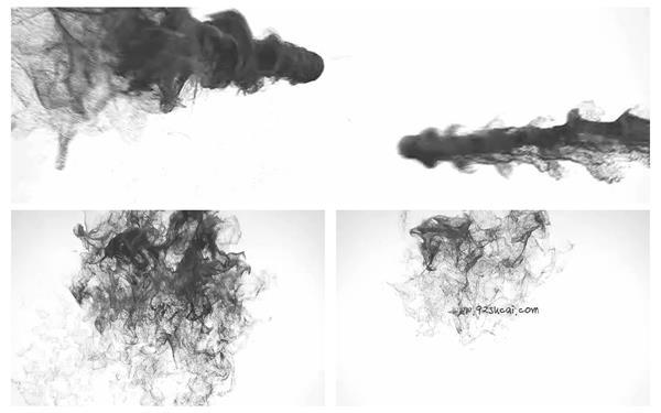 会声会影X6模板 大气中国风水墨运动粒子飘散效果过渡LOGO模板